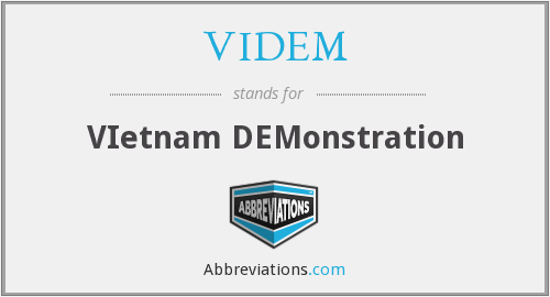 VIDEM - VIetnam DEMonstration