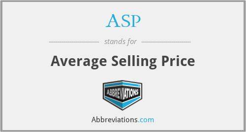 ASP - Average Selling Price