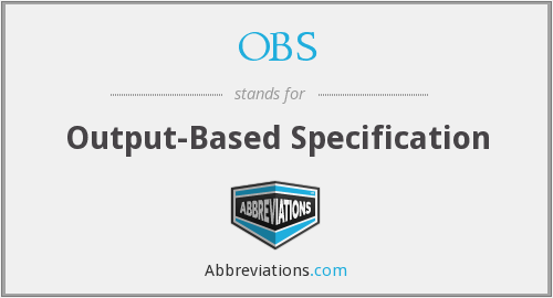 OBS - Output-Based Specification