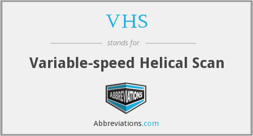 VHS - Variable-speed Helical Scan