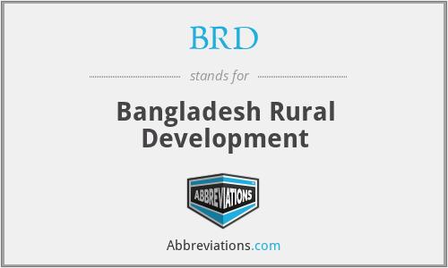 BRD - Bangladesh Rural Development