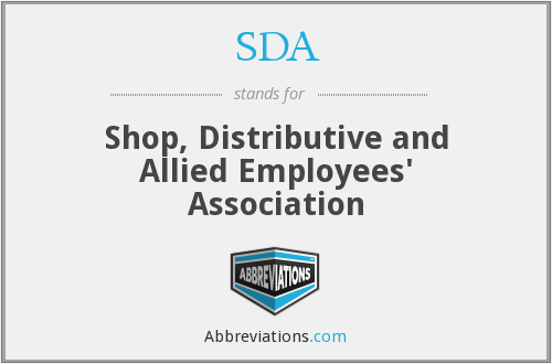 SDA - Shop, Distributive and Allied Employees' Association