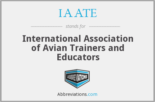 IAATE - International Association of Avian Trainers and Educators