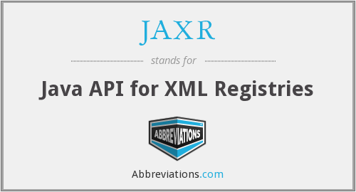 What does JAXR stand for?