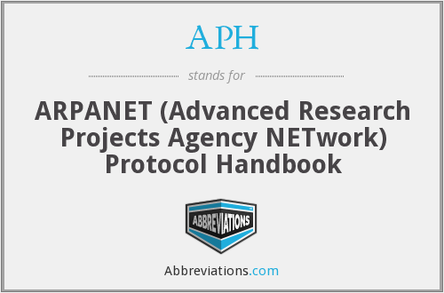 APH - ARPANET (Advanced Research Projects Agency NETwork) Protocol Handbook