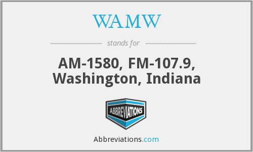 WAMW - AM-1580, FM-107.9, Washington, Indiana