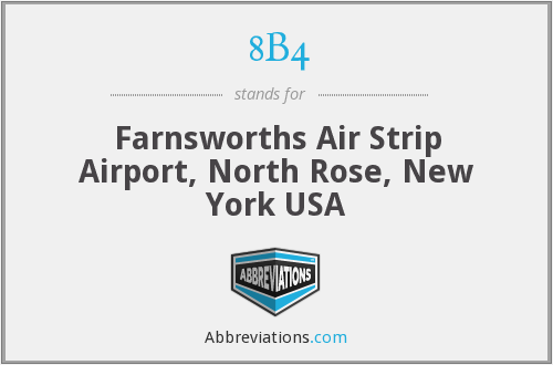 8B4 - Farnsworths Air Strip Airport, North Rose, New York USA