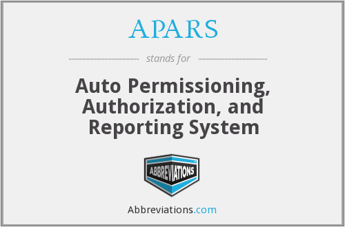 APARS - Auto Permissioning, Authorization, and Reporting System