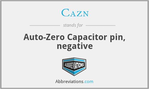 Cazn - Auto-Zero Capacitor pin, negative