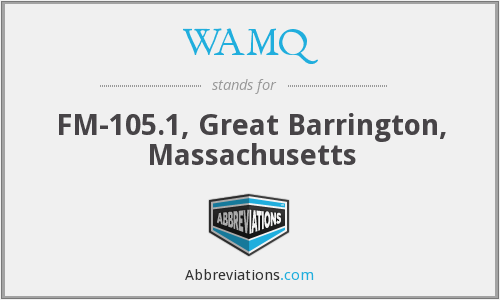 WAMQ - FM-105.1, Great Barrington, Massachusetts