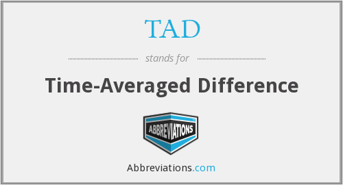 TAD - Time-Averaged Difference