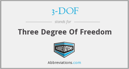 3-DOF - Three Degree Of Freedom