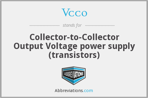 Vcco - Collector-to-Collector Output Voltage power supply (transistors)