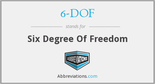 6-DOF - Six Degree Of Freedom