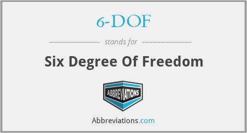 6-DOF - Six Degree Of Freedom
