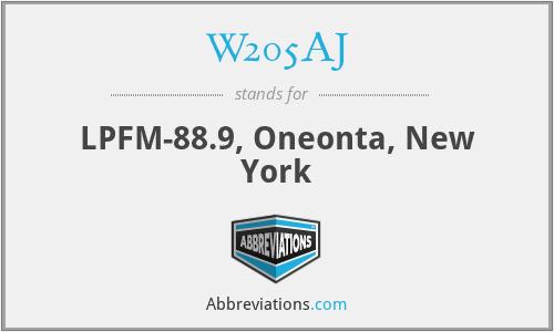 W205AJ - LPFM-88.9, Oneonta, New York
