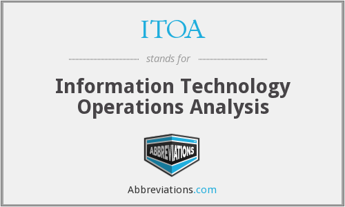What does ITOA stand for?
