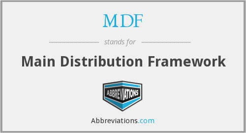 MDF - Main Distribution Framework