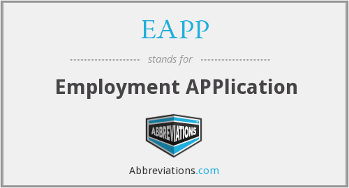 EAPP - Employment APPlication