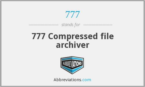 777 - Compressed file archiver (777)