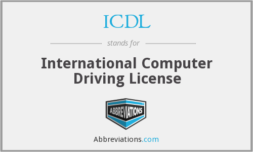 ICDL - International Computer Driving License