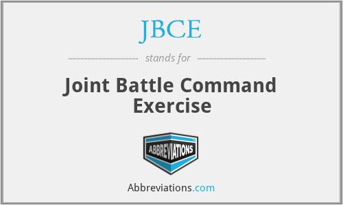 JBCE - Joint Battle Command Exercise