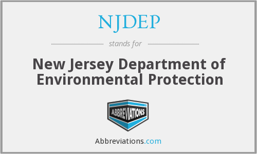 What does NJDEP stand for?