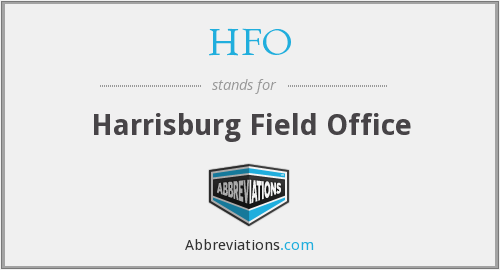 HFO - Harrisburg Field Office