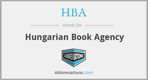 HBA - Hungarian Book Agency