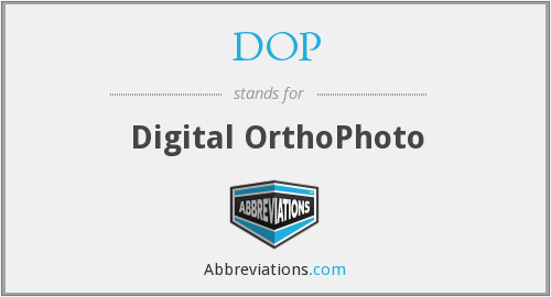 DOP - Digital OrthoPhoto