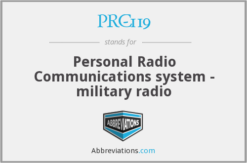 PRC-119 - Personal Radio Communications system - military radio