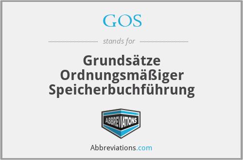 GOS - Grundsätze Ordnungsmäßiger Speicherbuchführung