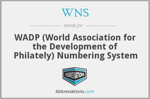 WNS - WADP (World Association for the Development of Philately) Numbering System
