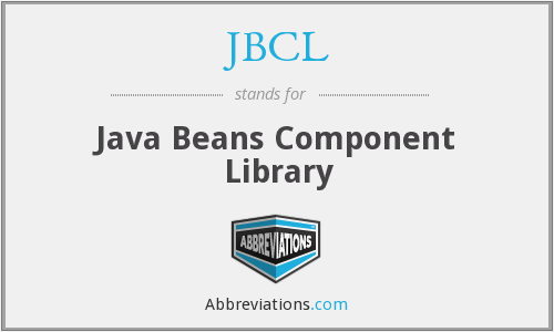 JBCL - Java Beans Component Library