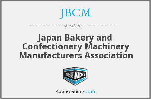 JBCM - Japan Bakery and Confectionery Machinery Manufacturers Association