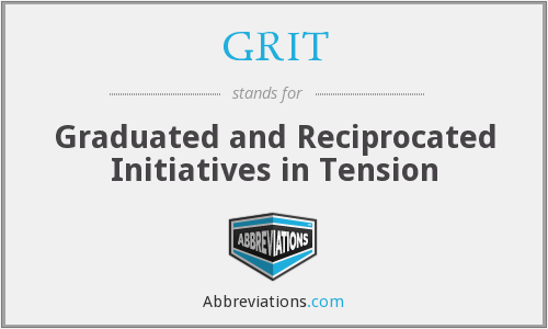 GRIT - Graduated and Reciprocated Initiatives in Tension