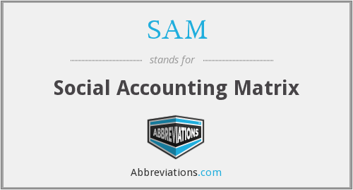 SAM - Social Accounting Matrix