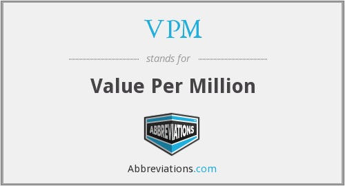 VPM - Value Per Million