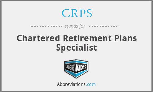 CRPS - Chartered Retirement Plans Specialist