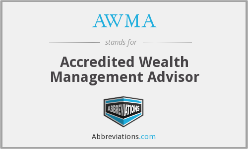 What does AWMA stand for?