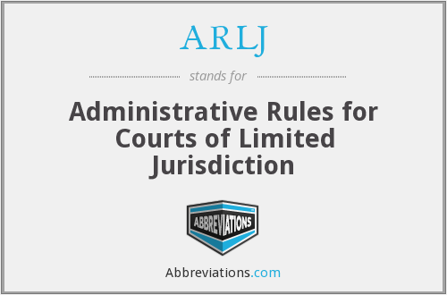 What does ARLJ stand for?
