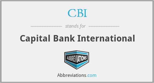 CBI - Capital Bank International