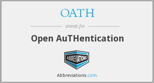 What does OATH stand for?