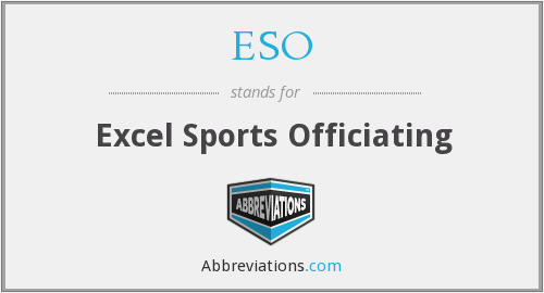 ESO - Excel Sports Officiating