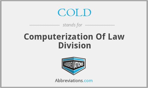 COLD - Computerization Of Law Division
