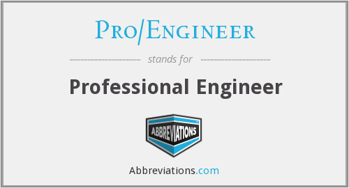 What does PRO/ENGINEER stand for?