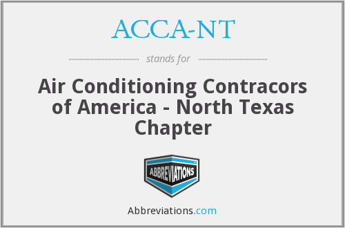 ACCA-NT - Air Conditioning Contracors of America - North Texas Chapter