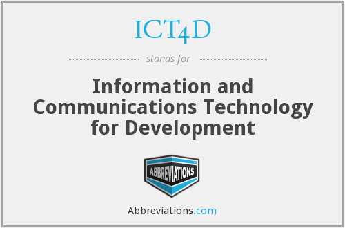 What does ICT4D stand for?