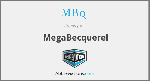 What does MBQ stand for?