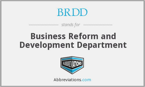 BRDD - Business Reform and Development Department